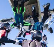 exit fra skyvan 4-way formationsspring, Foto: Flemming Borup